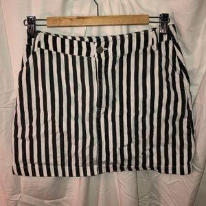 forever 21 striped mini skirt